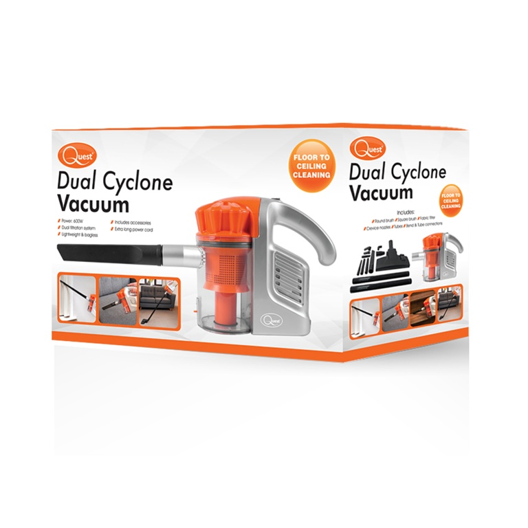 Quest Hand Held Dual Cyclone Vacuum Cleaner - 600w