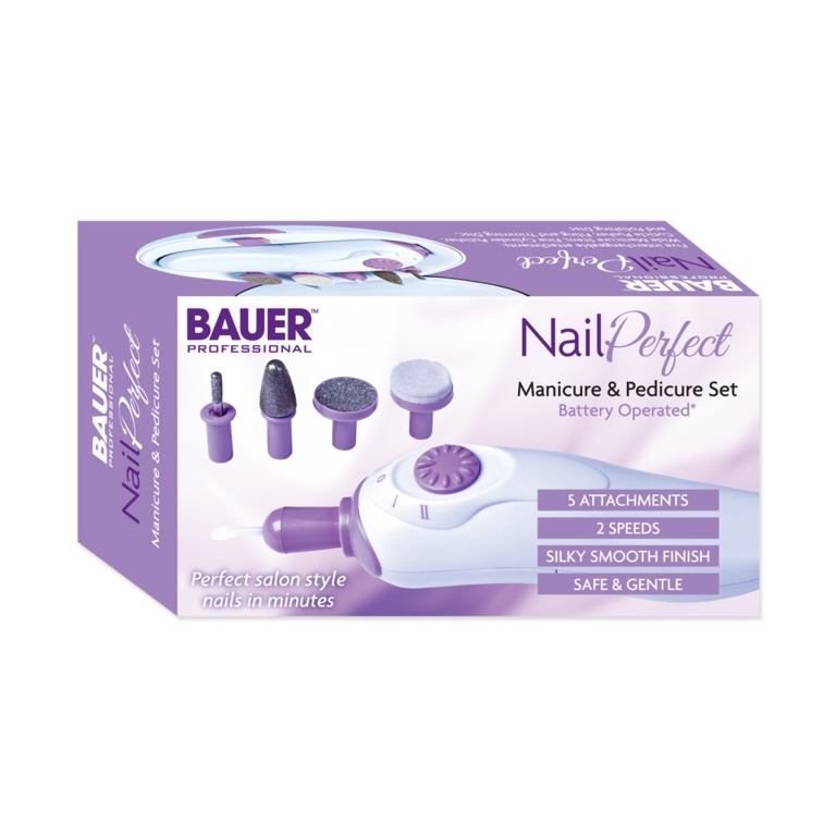 Bauer Nail Perfect Manicure & Pedicure Set - Battery operated