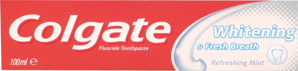 Colgate Toothpaste 100ml - White & Fresh Breath