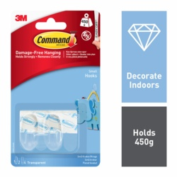 Command Clear Hooks Small x2 17092CLR