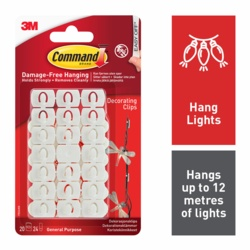 Command Decorating Clips White x36 17026