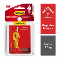 Command Medium Utility Hooks x6 Value Pack 17001