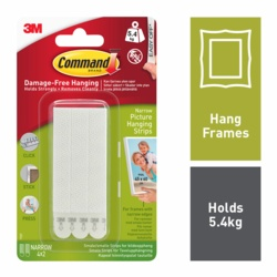 Command Picture Hanging Strips Narrow x4 17207