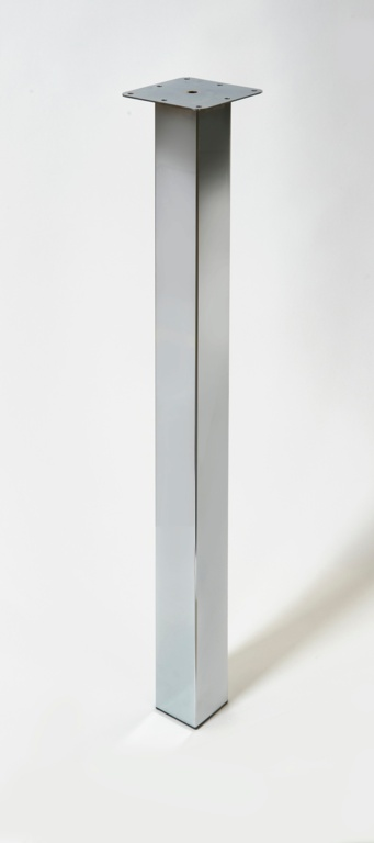 Rothley Square Worktop Leg - Chrome 870mm