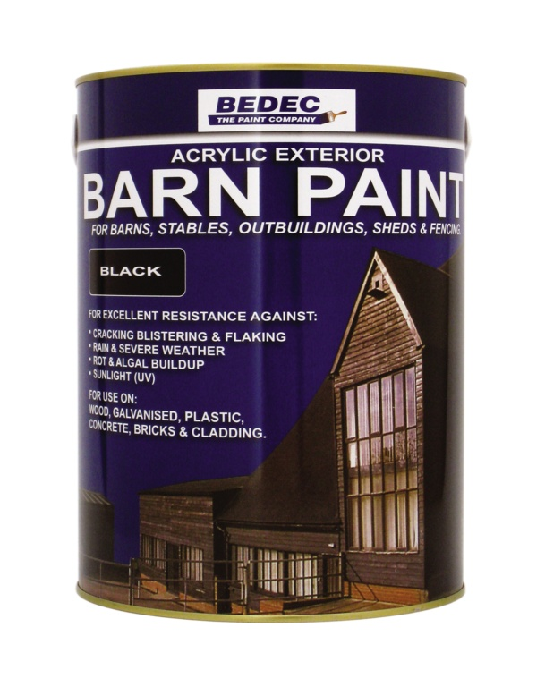 Bedec Semi Gloss Barn Paint 5L - White