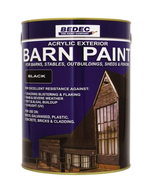Bedec Semi Gloss Barn Paint 5L - Black