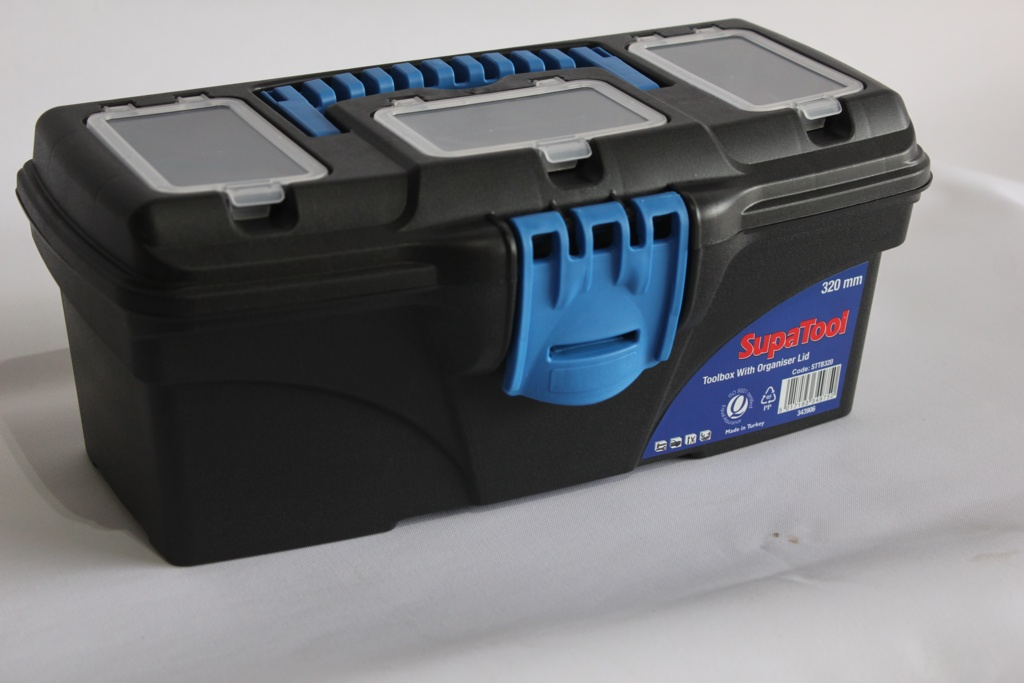 SupaTool Toolbox With Organiser Lid - 320mm