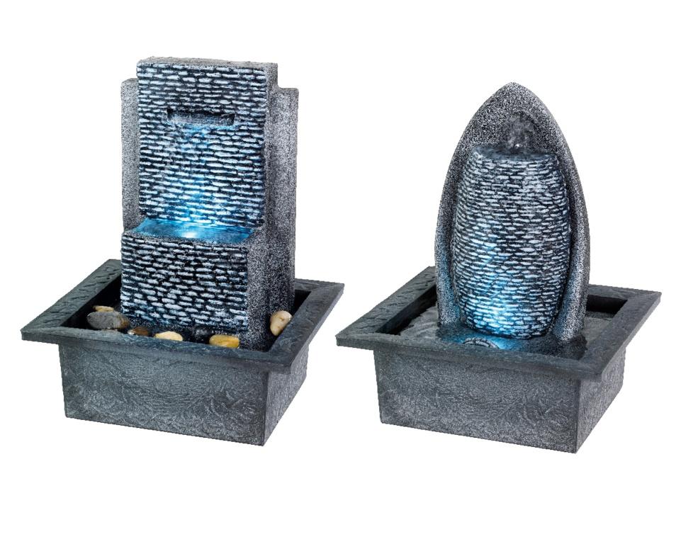 Kaemingk LED Poly Fountain Assorted 28cm - Grey