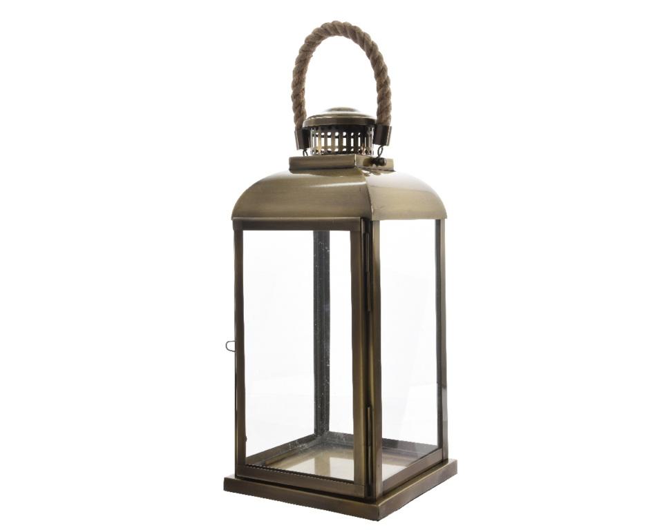 Kaemingk Stainless Steel Lantern - 56cm