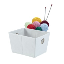 H & L Russel White Foldable Storage Box