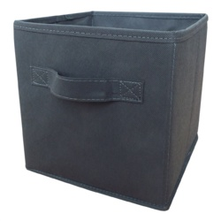H & L Russel Grey Foldable Storage Box With Lid