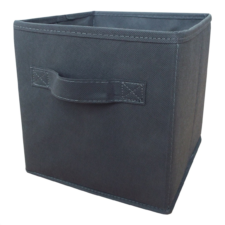 H & L Russel Grey Foldable Storage Box With Lid - Small