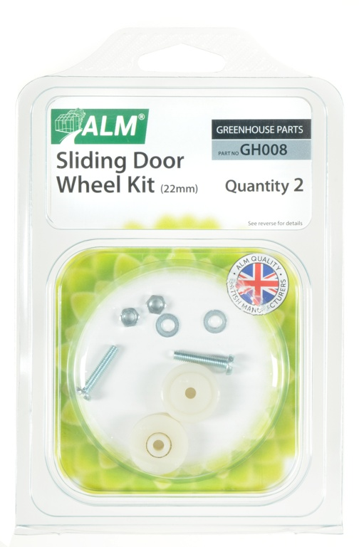 ALM Greenhouse Sliding Door Wheel Kit - 22mm