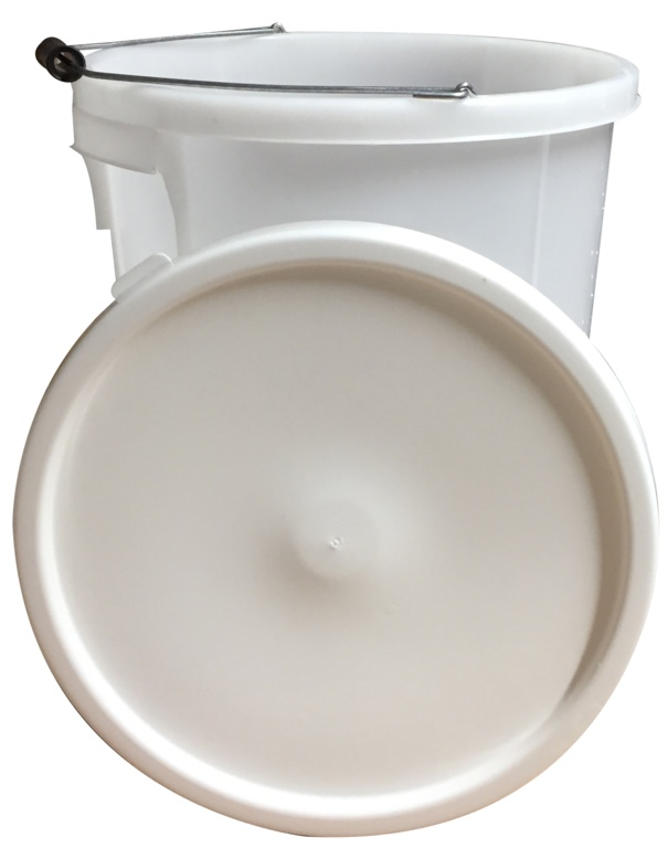 Proplas 28L Plasterers Bucket with Handle - White