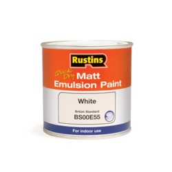 Rustins Matt Emulsion 250ml White