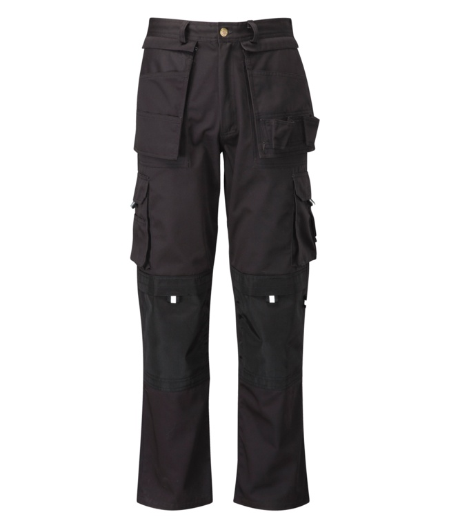 Orbit Pro Black Multi Pocket Trousers - 32L