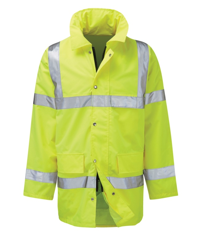 Orbit Geraint EN471 Hi Vis 3/4 Coat - Large