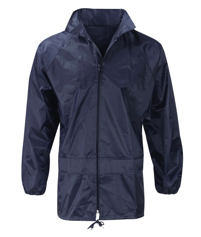 Orbit Pacific 100% Navy Polyester Rain Jacket - Large