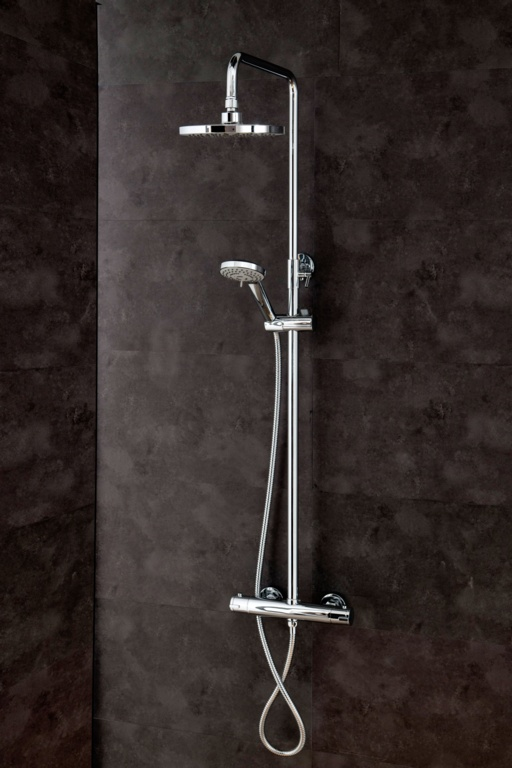 Cassellie Round Thermostatic Shower Set Stax Trade Centres