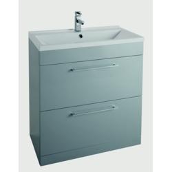 Cassellie Idon Grey Floor Standing 2 Drawer Cabinet & Basin