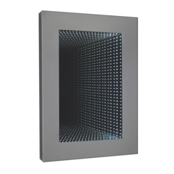 Hudson Reed Silver Rectangle Infinity LED Mirror