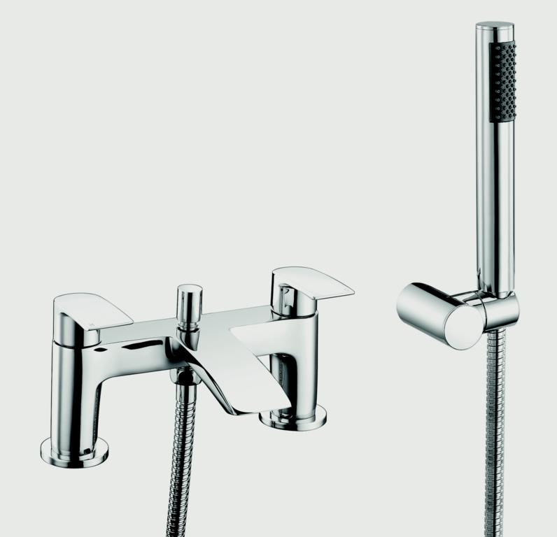 SP Aero Curve Bath Shower Mixer Tap - W: 180mm H: 123mm D: 105mm