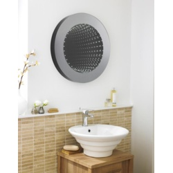 Hudson Reed Silver Round Infinity LED Mirror