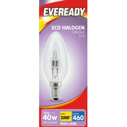 Eveready Eco Candle E14 Clear SES Boxed