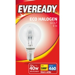 Eveready Eco Golf E14 Clear SES Boxed