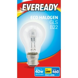 Eveready Eco GLS B22 Clear BC Boxed