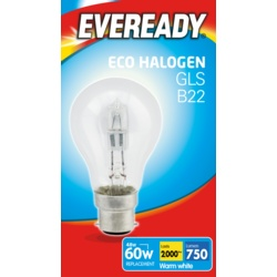 Eveready Eco GLS Clear B22 BC Boxed