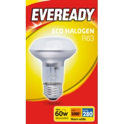 Eveready Eco R63 Clear E27 ES Boxed