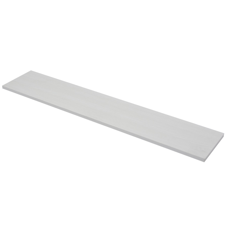 B!organised 4XS XS2 White Wood Grain Shelf - 118x23x5cm