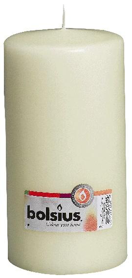 Bolsius Pillar Candle Single 200mm - Ivory