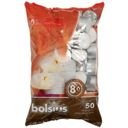 Bolsius Bag 50 Tealights - 8 Hour Burn Time