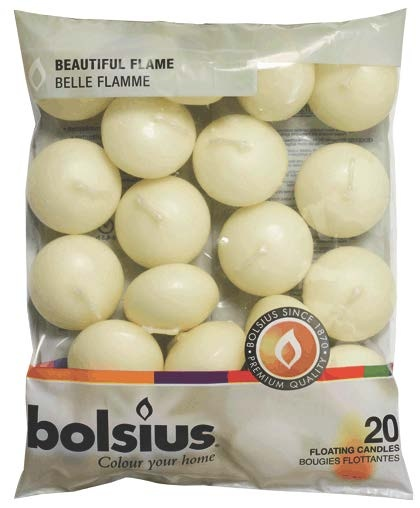 Bolsius Floating Candles Bag 20 - Ivory