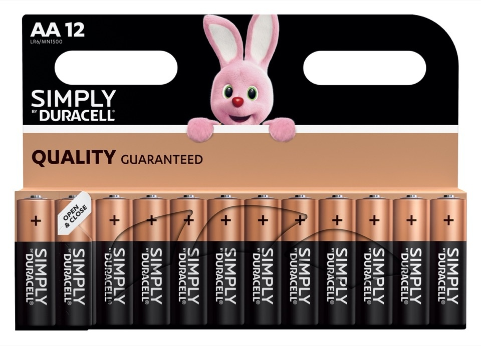 Duracell Simply Batteries 12 Pack - AA
