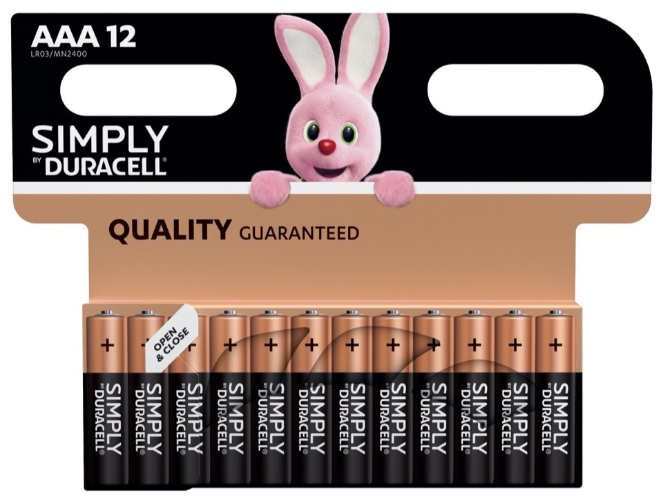 Duracell Simply Batteries 12 Pack - AAA