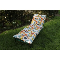 Culcita Tubular Sunbed - Green Frame - Autumn Leaf