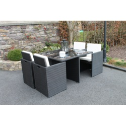 Culcita 5 Piece Cube Rattan Set with Cushions