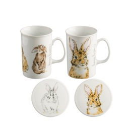 Price & Kensington Country Bunny Mugs & Coasters