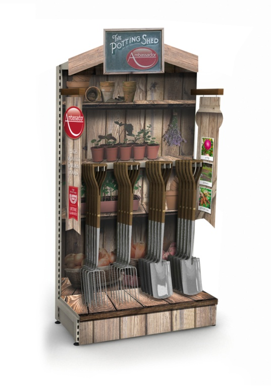 Ambassador Potting Shed Add On Stand And POS