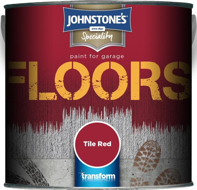Johnstone's Garage Floor Paint 2.5L - Tile Red