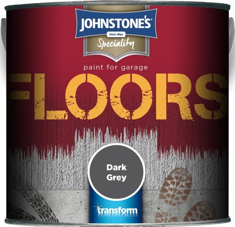 Johnstone's Garage Floor Paint 2.5L - Dark Grey
