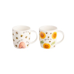 Price & Kensington Honey Bee Mugs Assorted