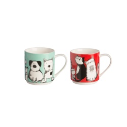 Price & Kensington Curious Pets Stackable Mug Assorted