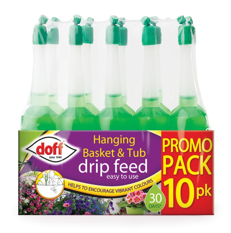 Doff Drip Feeders Pack 10 - Hanging Basket & Tub