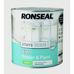 Ronseal Stays White 2in1 Primer & Paint