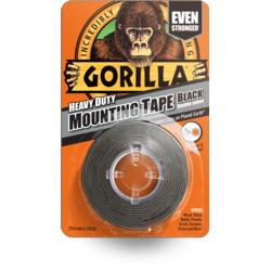 Gorilla Heavy Duty Mounting Tape Black 1.5m