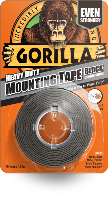 Gorilla Heavy Duty Double Sided Mounting Tape - 1.5m Black